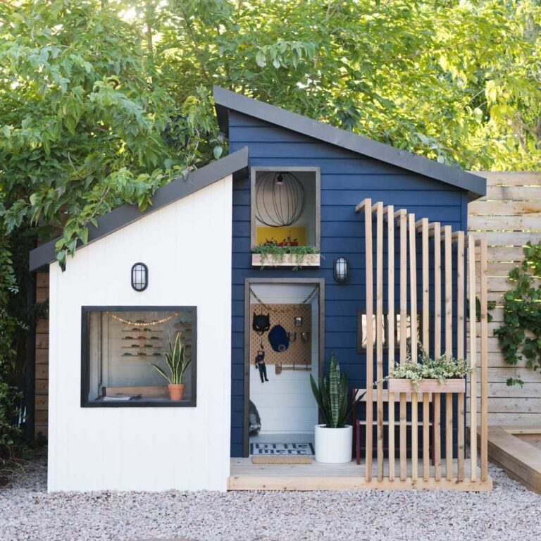A playhouse that looks too good for just kids!