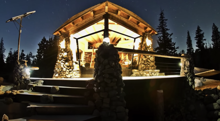 Amazing off-grid tiny home on a granite mountain